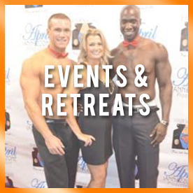 Mom's life Hacks Events and retreats picture women standing with 2 shirtless men