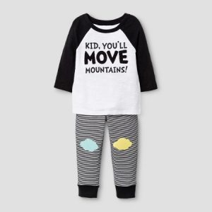 Cute spring outfits for play date Black and white with yellow and light blue patches