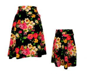 Match spring outfits - floral skirts for mom and daughter