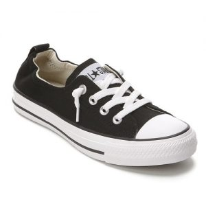 black canvas sneaker to match spring outfits dress