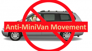 buying as minivan in post antiminivan sign